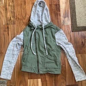 Vest jacket with hood